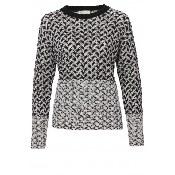 Modischer Pullover mit Jacquard-Muster /