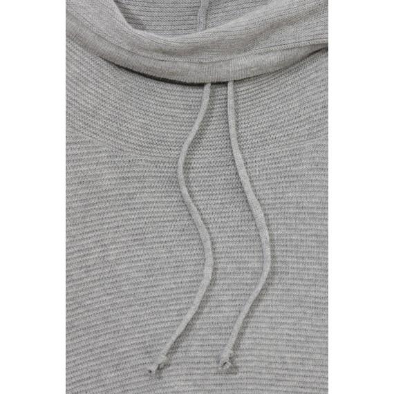 Rollkragen-Pullover mit Strukturmuster /