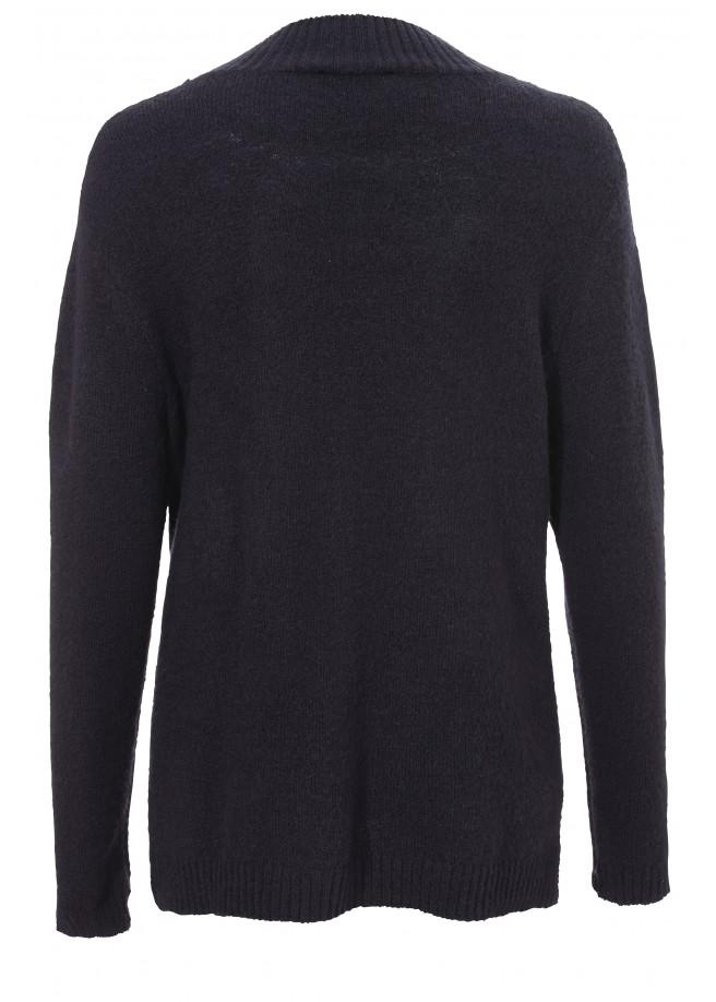 Weicher Woll-Pullover mit Blüten-Motiv /