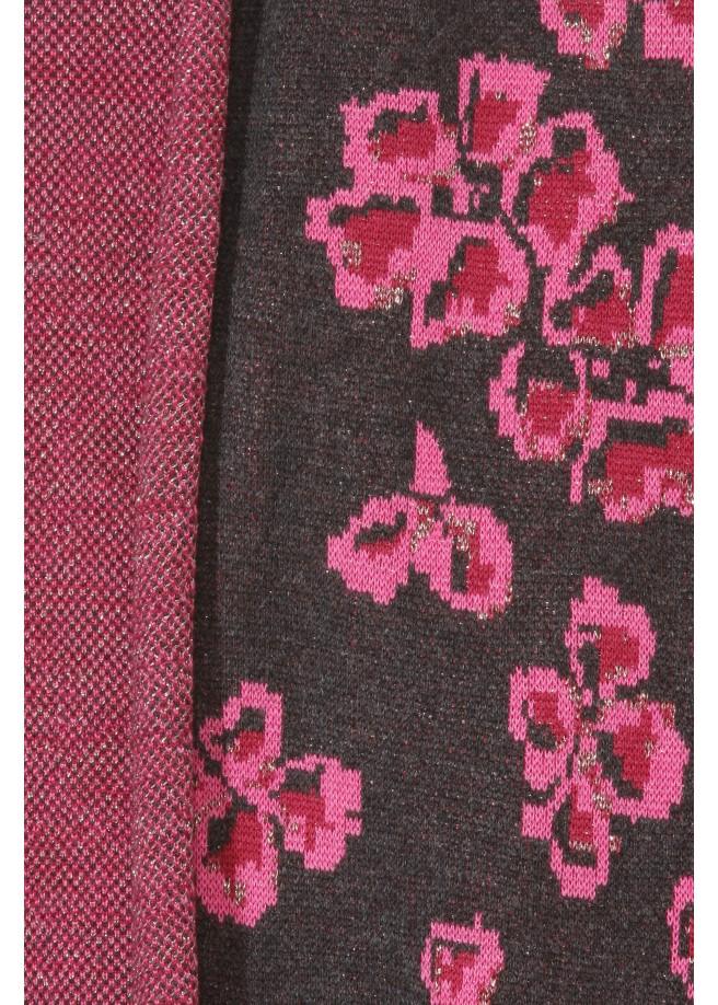 Romantischer Strickmantel mit Blüten /