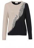 Raffinierter Pullover mit zweifarbigem Design /