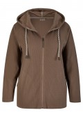 Softe Sweat-Jacke mit Kapuze /