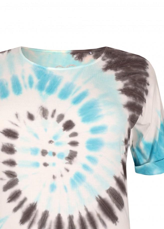 Cooles T-Shirt mit Batik-Muster /