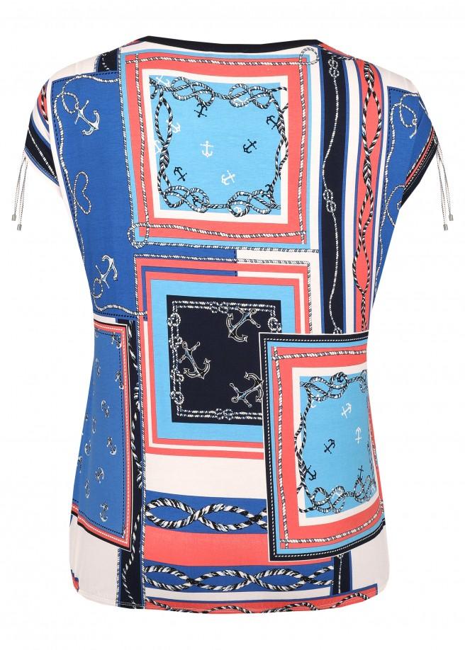 Modisches T-Shirt mit nautischem Allover-Muster /
