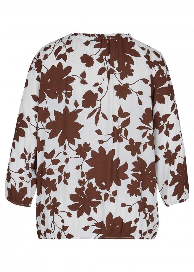 Luftige Schlupfbluse mit floralem Allover-Muster /