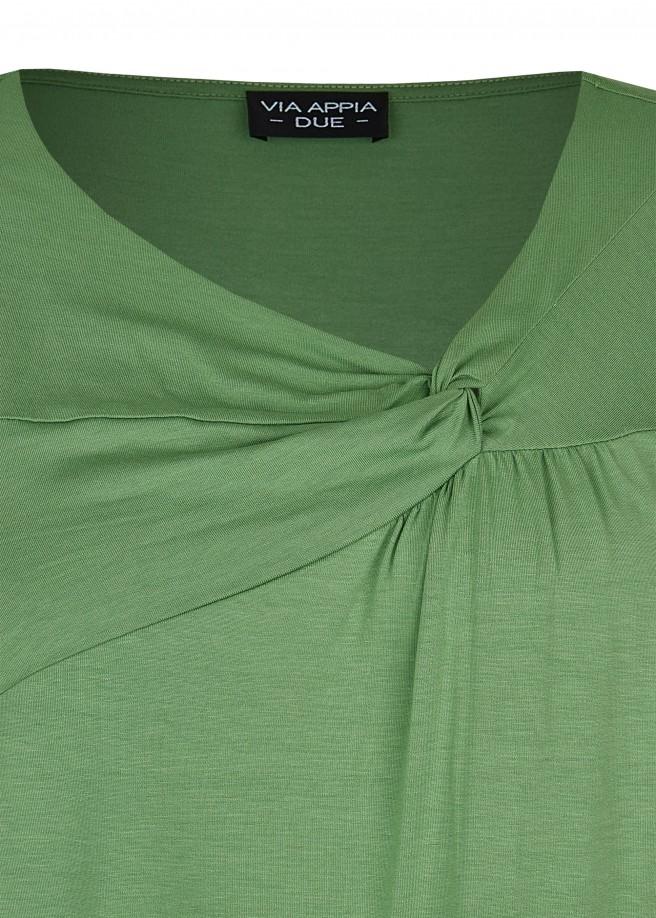 Zeitloses T-Shirt mit unifarbenem Stoff /