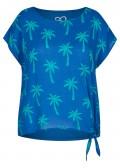 Modische Bluse mit Allover-Palmen-Print /
