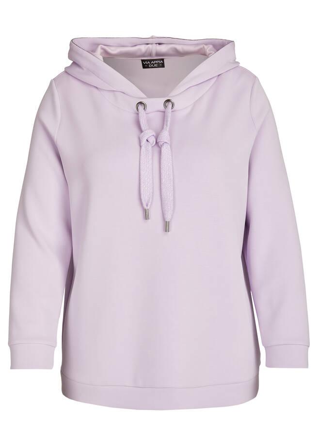 Softes Kapuzensweatshirt mit Zierbändern /