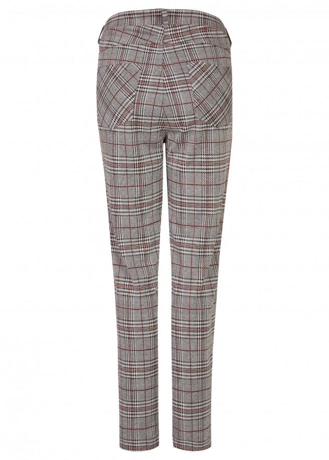 Trendige Hose mit Glencheck-Muster /