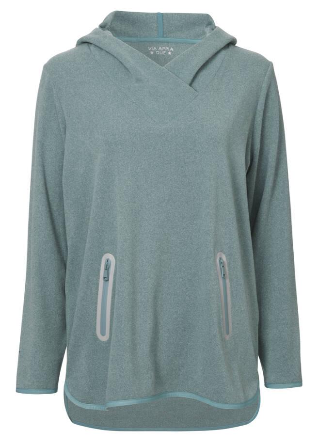 Sportives Sweatshirt in unifarbenem Design /