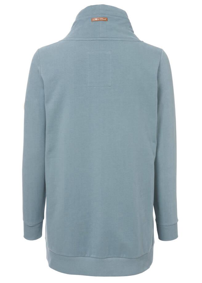 Sportives Sweatshirt mit Stehkragen /
