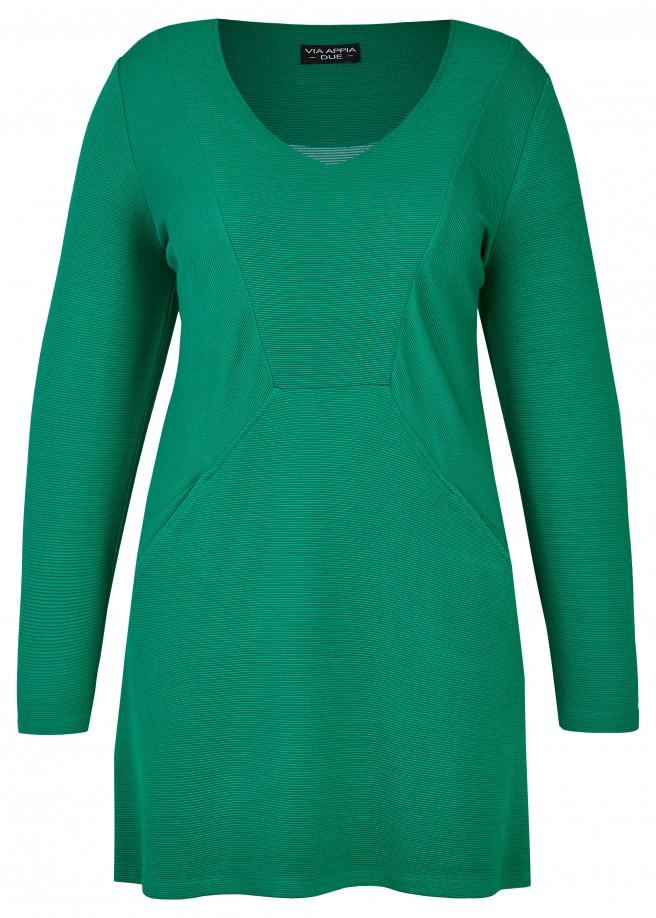 Elegantes Long-Sweatshirt mit Ziernähten /