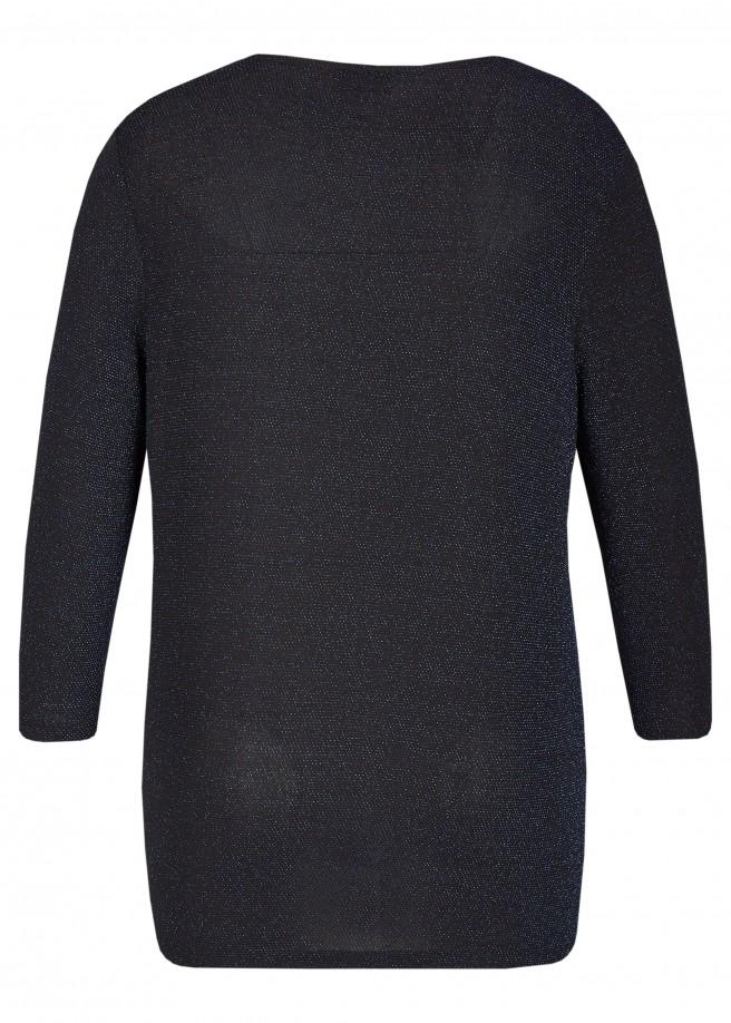 Fließendes Shirt mit Glitzereffekt /
