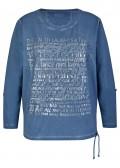 Stückgefärbtes Sweatshirt mit geschmückter Front /