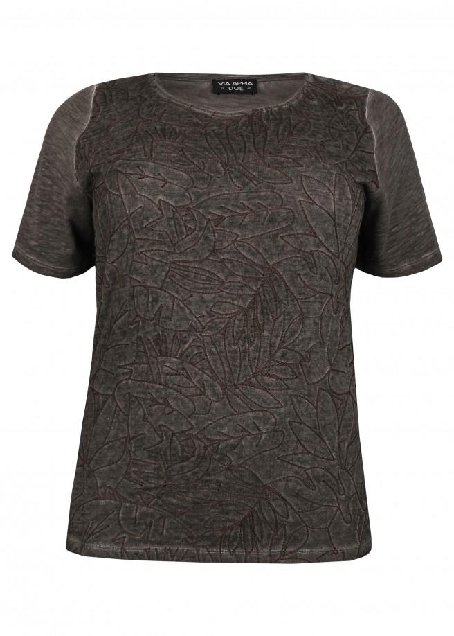Modernes T-Shirt mit Stickmuster /