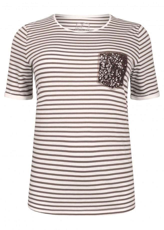 Sportives T-Shirt mit Pailletten-Patch /