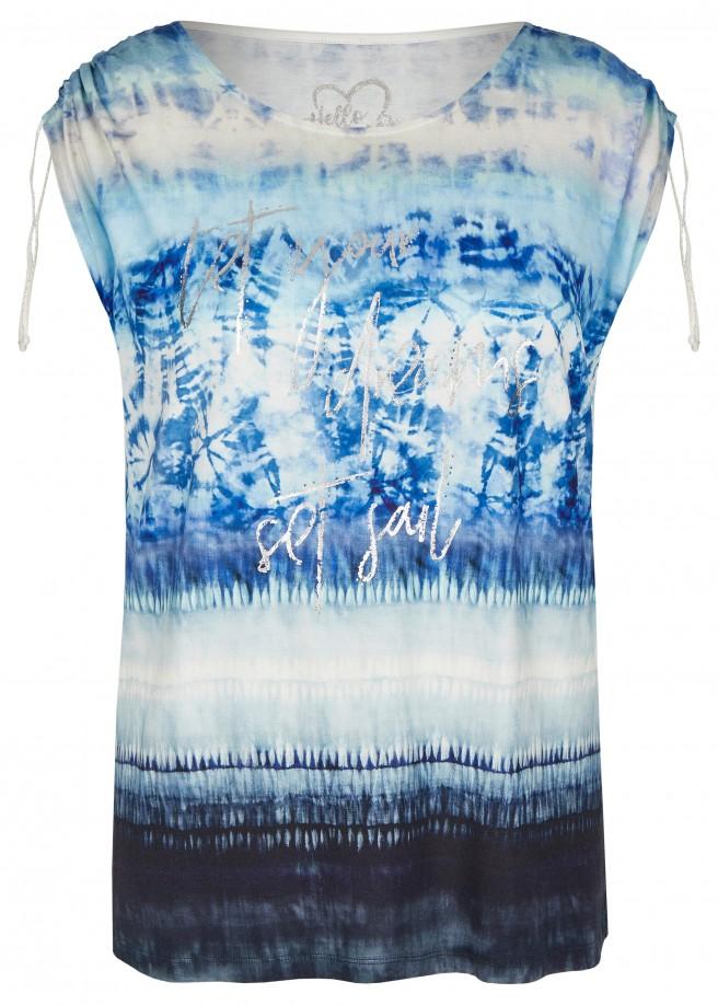 Sommerliches Top mit Batik-Muster /