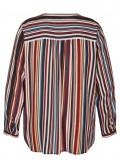 Trendige Bluse mit bunten Längsstreifen /