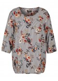 Trendige Bluse mit Allover-Mustermix /