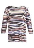 Modernes 3/4-Arm-Shirt mit gestreiftem Muster /