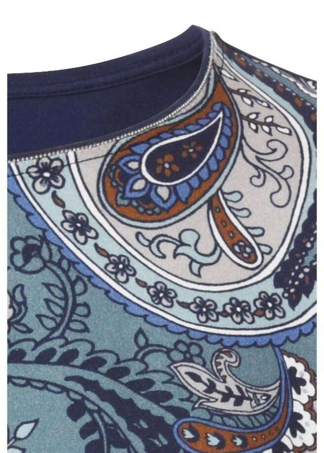 Romantische Druckbluse mit Paisley-Muster /