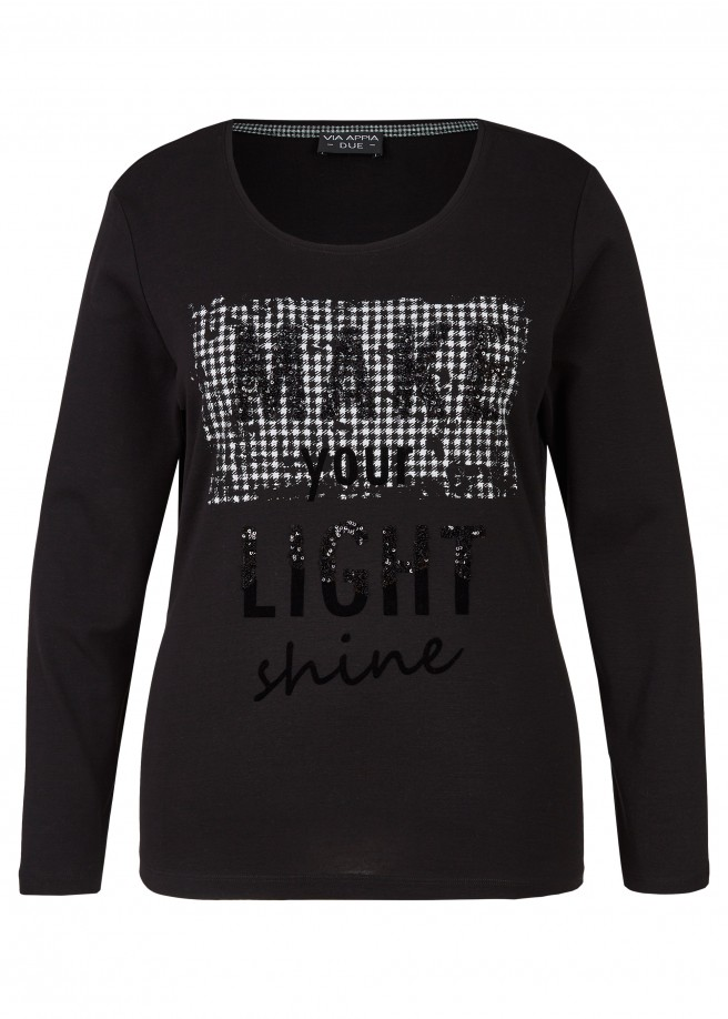 "Modernes Shirt ""Make your light shine"" /"