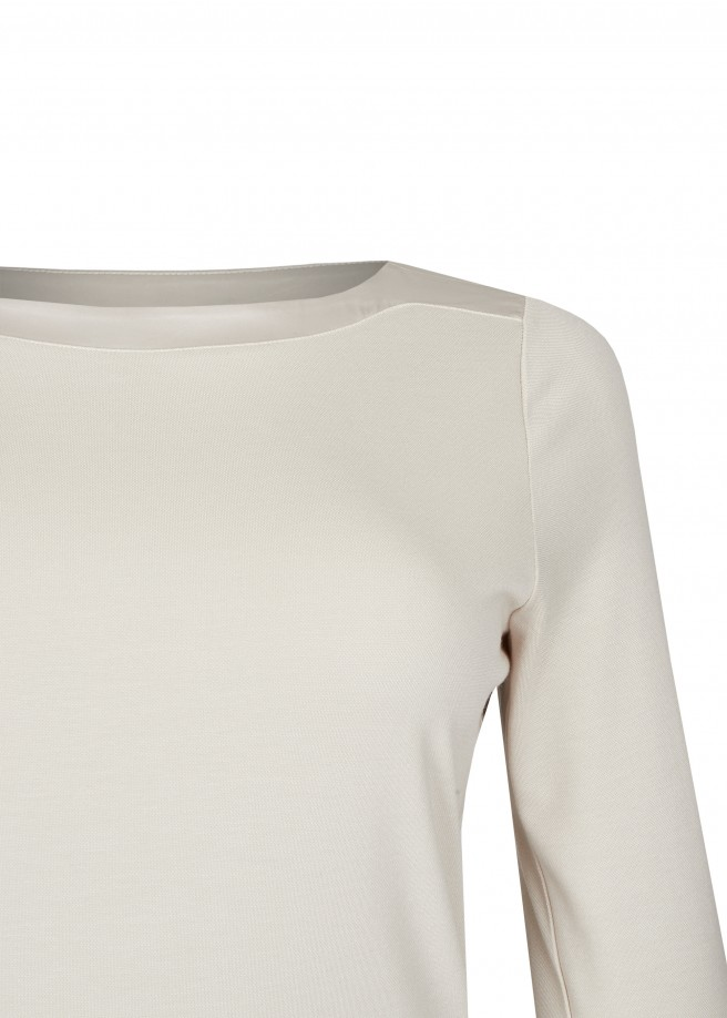 Elegantes Shirt schimmernden Einsätzen /
