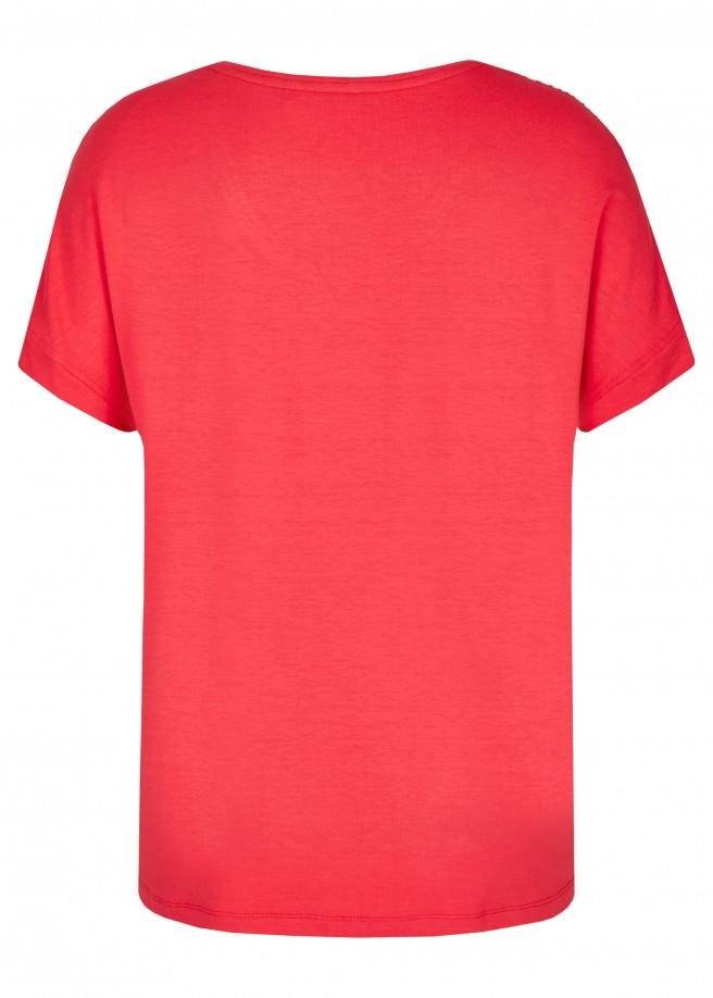 Trendige Bluse mit gemusterter Vorderseite /