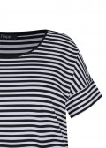 Sportives T-Shirt mit geringeltem Allover-Muster /