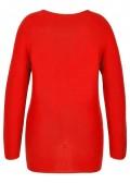 Einfarbiger Strick-Pullover mit Raglan-Ärmeln /