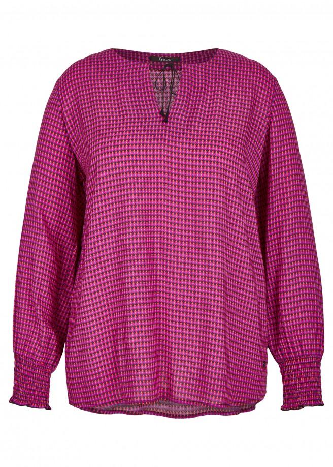 Ausgefallene Bluse mit extrovertiertem Muster /