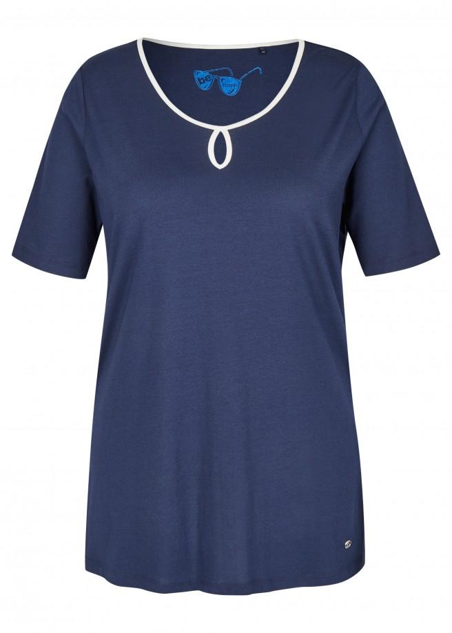 Elegantes T-Shirt mit Schlüssellochdetail /