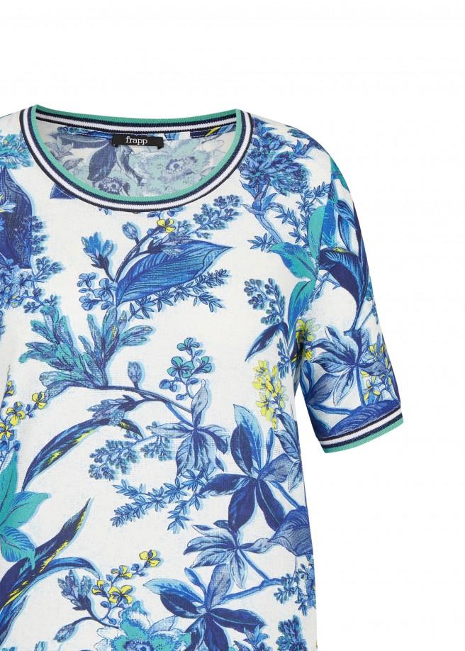 Extravagante Bluse mit Blumen-Print /