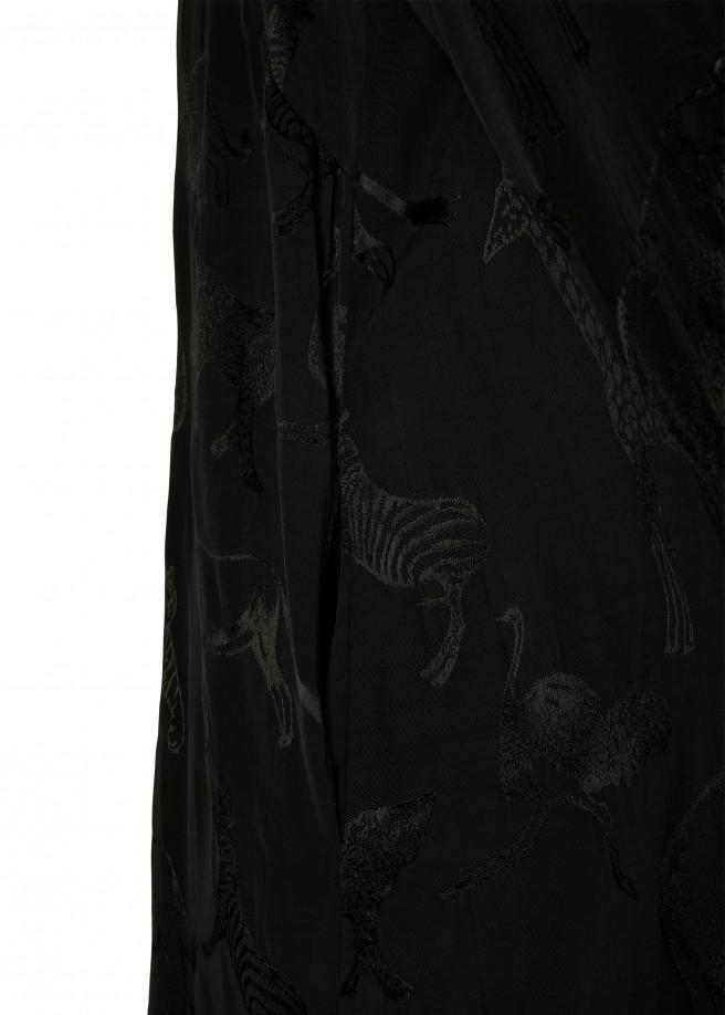 Tunika aus reiner Viskose mit tonigem Animal-Print /