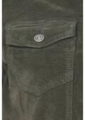 Sportive Jeansjacke mit unifarbenem Stoff /