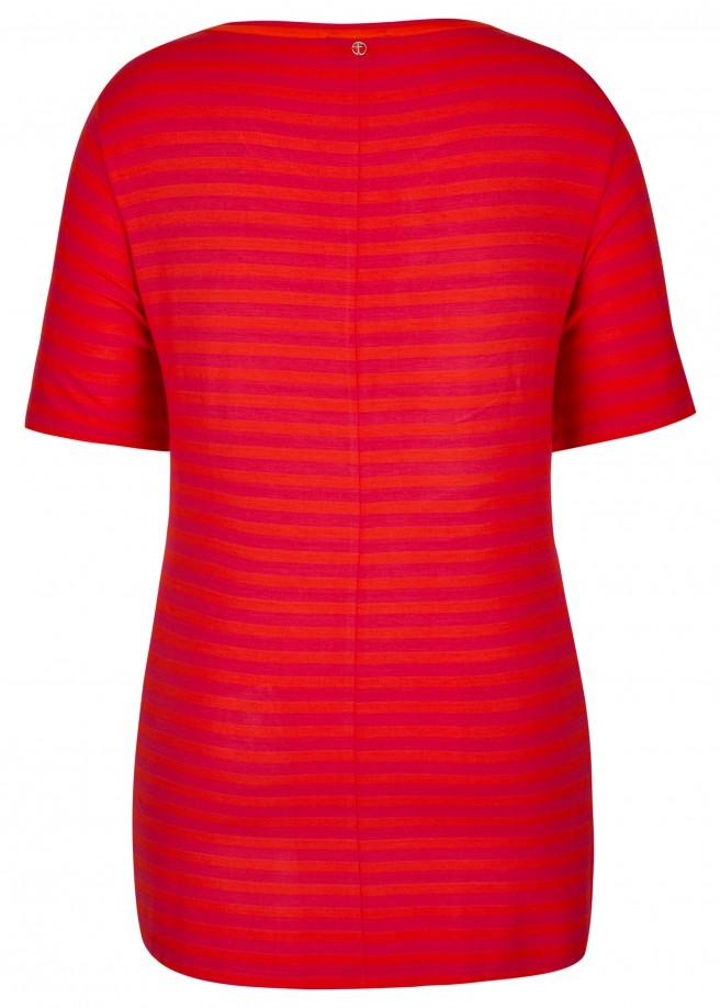 Trendbewusstes T-Shirt mit Allover-Ringeln /