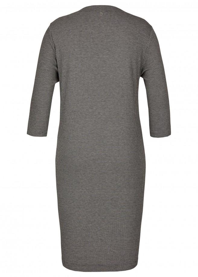 Stilvolles Midi-Kleid mit Hahnentritt-Muster /
