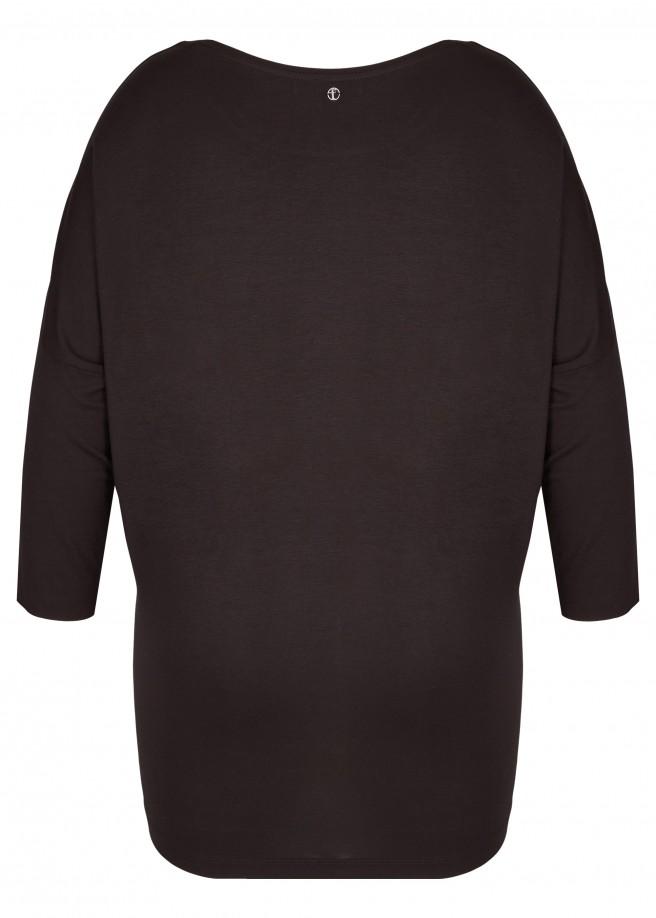 Elegantes Viskose-Shirt mit Materialmix /