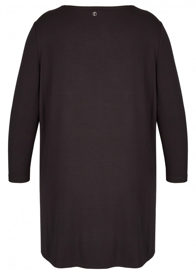 Kombistarkes Shirt mit geschlitzter Mesh-Front /