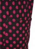 Supersoftes Punkte-Kleid mit 3/4-Ärmeln /