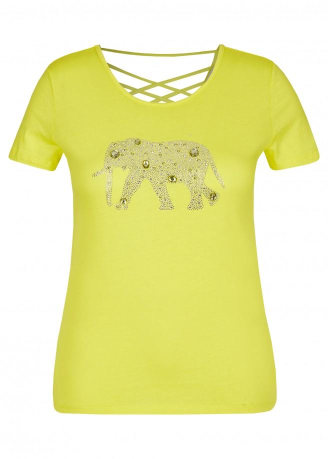 Modisches T-Shirt mit Glitzersteinchen /