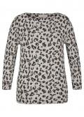 Trendiger Pullover mit Leo-Print /