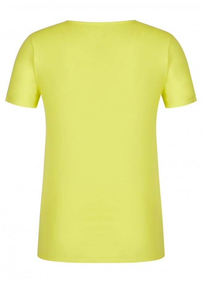 Fröhliches T-Shirt mit Schnüren /