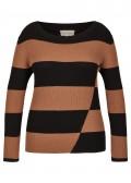 Trendiger Pullover mit Streifen /