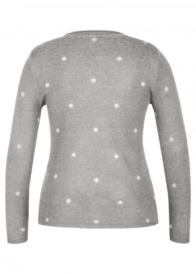 Süßer Pullover mit Pünktchen-Muster /